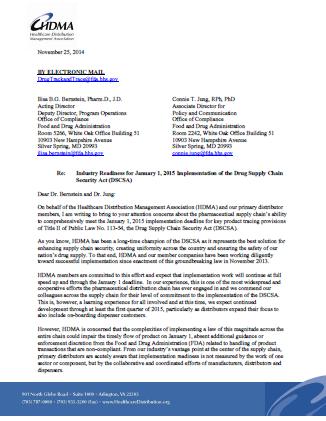 HDMA seeks enforcement leniency for DSCSA non-compliance